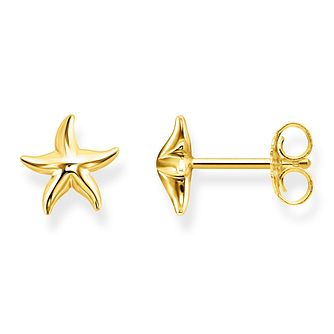 Thomas Sabo Glam Ladies Yellow Gold Plated Starfish Earrings - Product number 4472667