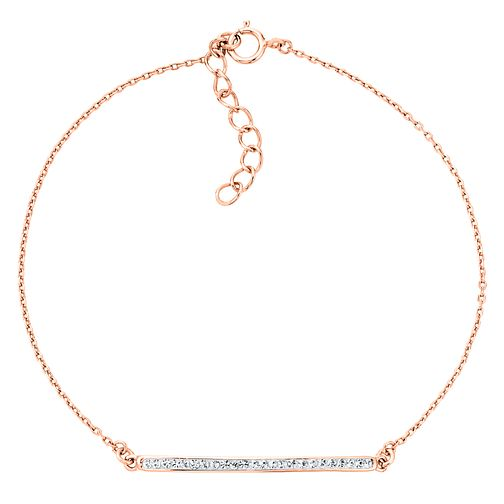 Evoke Silver Rose Gold Plated Crystal Bracelet - Product number 4475828
