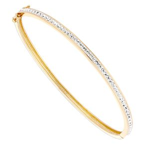 Evoke Silver Gold-Plated Crystal Hinged Bangle - Product number 4475836