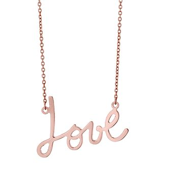 9ct Rose Gold Love Necklace - Product number 4476123