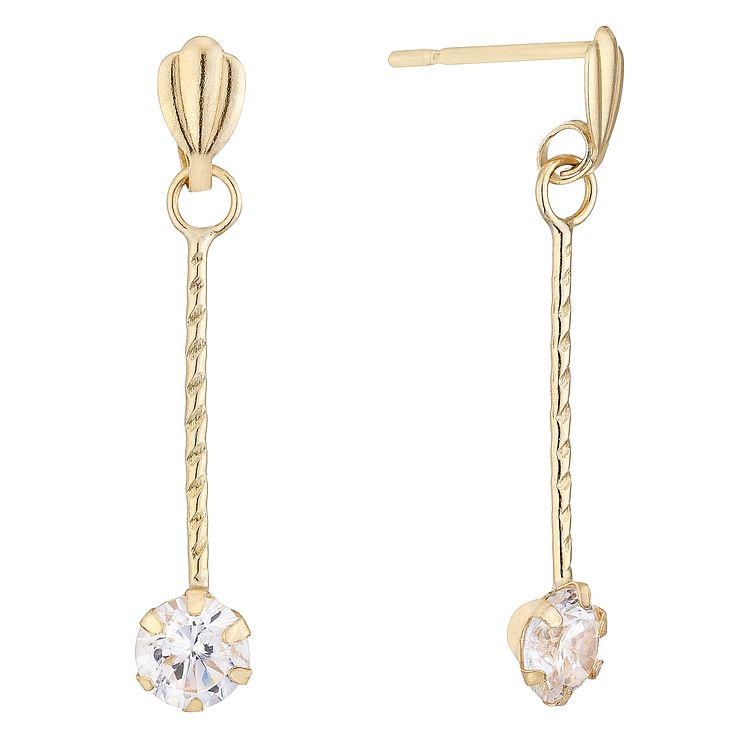9ct Gold Bar Drop Earrings - Product number 4478703