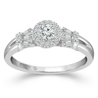 Emmy London Platinum 2/5ct Diamond Round Halo Ring - Product number 4482468