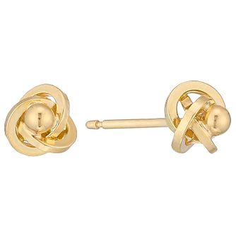 9ct Yellow Gold Ball Knot Earrings - Product number 4483081