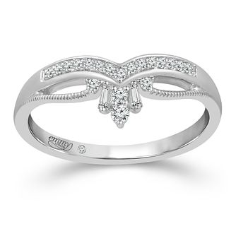 Emmy London 18ct White Gold 0.12ct Diamond Shaped Ring - Product number 4485572