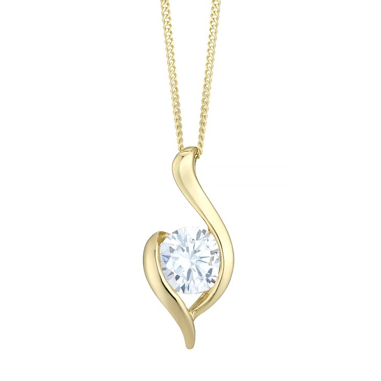 9ct Gold Cubic Zirconia Set Pendant - Product number 4487605