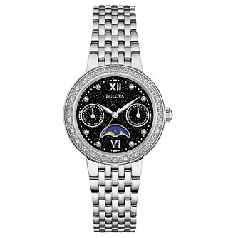 Bulova Ladies' Diamond Set Stainless Steel Bracelet Watch - Product number 4488334