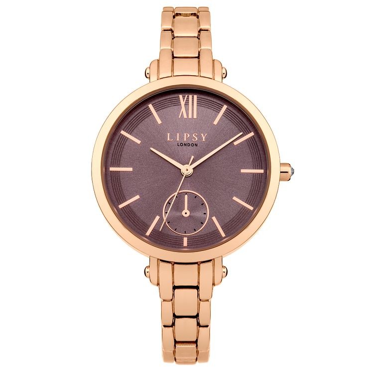 Lipsy Ladies' Grey Dial Rose Gold-Plated Bracelet Watch - Product number 4488342
