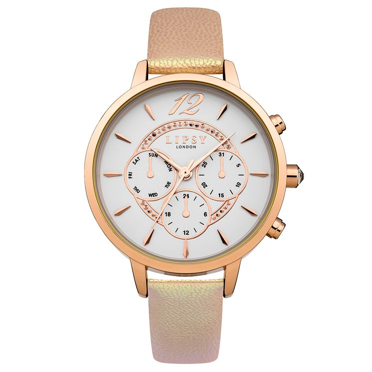 Lipsy Ladies' White Multi Sub Dial Nude PU Strap Watch - Product number 4488431