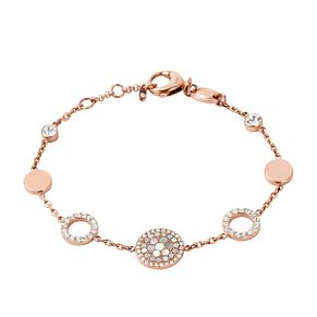 Fossil Rose Gold-Plated Crystal Set Bracelet - Product number 4489209