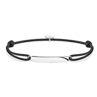 Thomas Sabo Secret Men's Silver Bar Black Bracelet - Product number 4491580