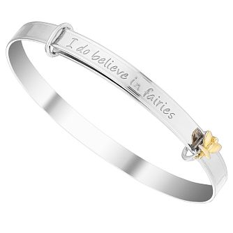 Tiny Treasures Sterling Silver And 9ct Yellow Gold Bangle - Product number 4493796