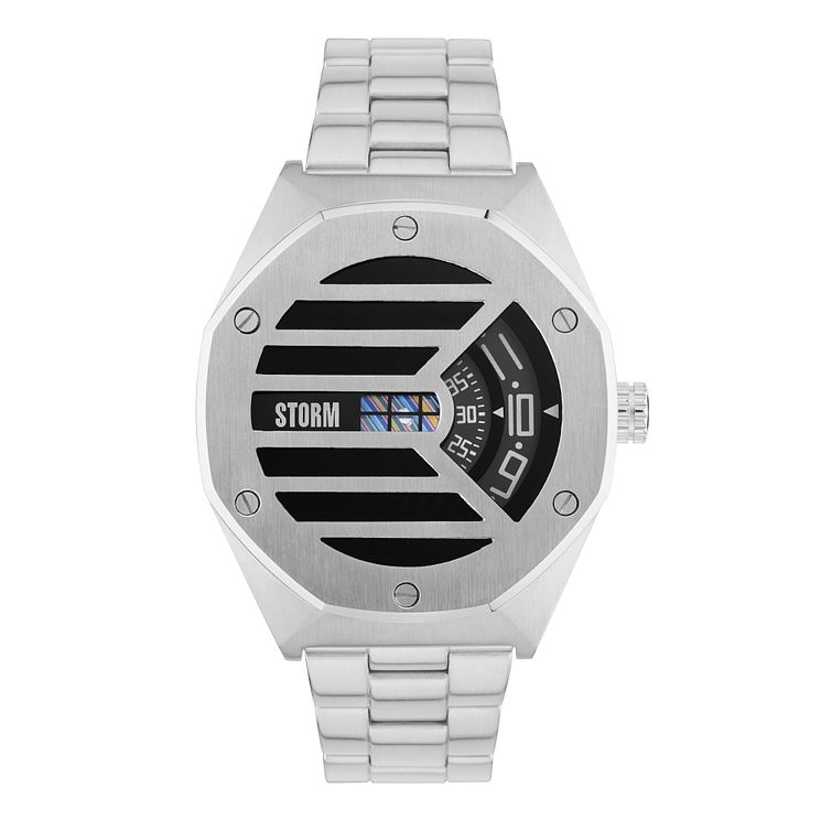 Storm Men's Black Dial Stainless Steel Strap Watch - Product number 4493850