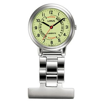 Lorus Ladies' Stainless Steel Nurse Fob Watch - Product number 4494067
