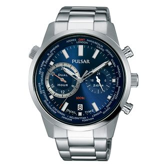 Pulsar Men's Stainless Steel Blue Dial Bracelet Watch - Product number 4499417