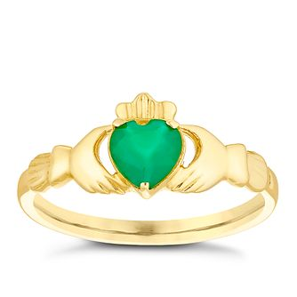 9ct Yellow Gold Claddagh Ring - Product number 4499484