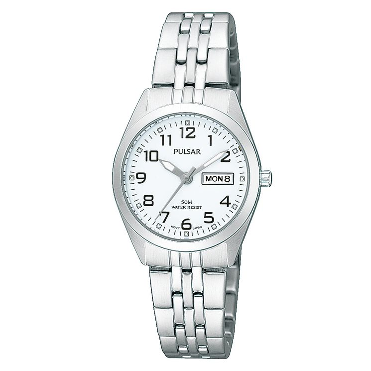 Pulsar Women's Stainless Steel White Dial Bracelet Watch - Product number 4499646