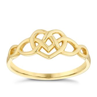 9ct Celtic Heart Ring - Product number 4499654