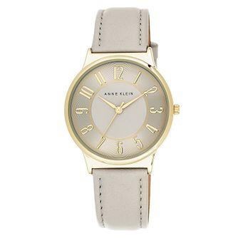 Anne Klein Ladies' Beige Dial Beige Leather Strap Watch - Product number 4500717