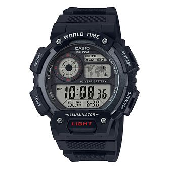 Casio Illuminator Men's Black Resin Strap Digital Watch - Product number 4503163