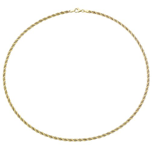 "9ct Two Colour Gold 18"" Rope Chain - Product number 4503422"
