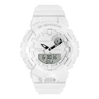 G-Shock Men's Bluetooth Step Tracker White Strap Watch - Product number 4503473