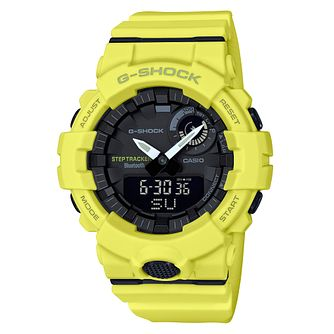 G-Shock Men's Bluetooth Step Tracker Yellow Strap Watch - Product number 4503481