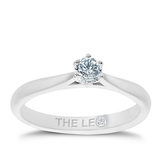 Leo Diamond 18ct White Gold 1/4 Carat Diamond Solitaire Ring - Product number 4503597