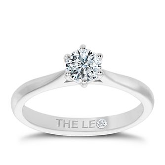 Leo Diamond 18ct White Gold 1/2 Diamond Solitaire Ring - Product number 4505107