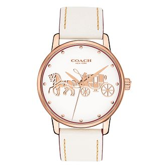 Coach Grand Ladies' Rose Gold Tone Strap Watch - Product number 4505344