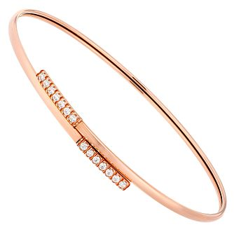 9ct Rose Gold Multi Cubic Zirconia Flexi Bangle - Product number 4505719
