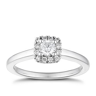 Tolkowsky 18ct White Gold 2/5ct Halo Engagement Ring - Product number 4505751