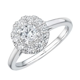 Tolkowsky 18ct White Gold 3/4ct Halo Engagement Ring - Product number 4506693