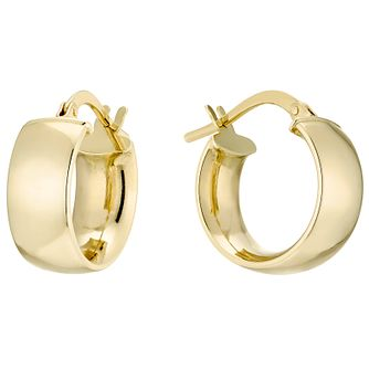 9ct Gold Curved Earrings - Product number 4506820