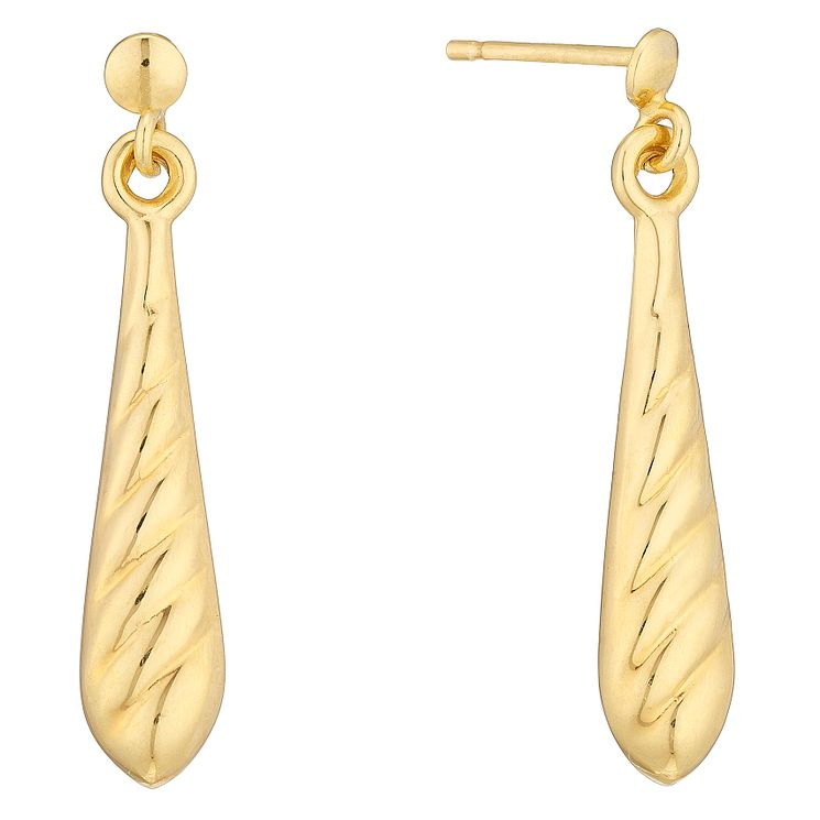 9ct Yellow Gold Drop Earrings - Product number 4507541
