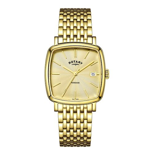 Rotary Men's Champagne Dial Gold-Plated Bracelet Watch - Product number 4507614