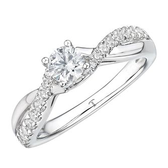 Tolkowsky 18ct White Gold 0.60ct Solitaire Engagement Ring - Product number 4507630