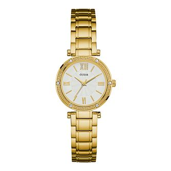 Guess ladies' Gold Plated Stainless Steel Bracelet Watch - Product number 4509706