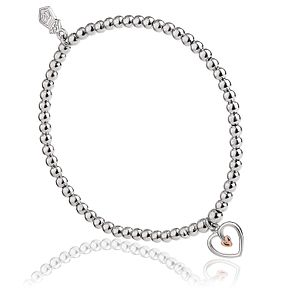 Clogau Sterling Silver Tree of Life Heart Beaded Bracelet - Product number 4510011
