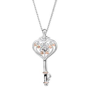 Clogau Sterling Silver & Gold Kensington Key Pendant - Product number 4510291