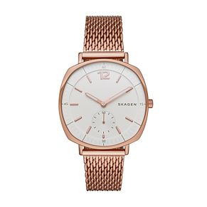 Skagen Ladies' Square Dial Rose Gold-Plated Bracelet Watch - Product number 4510666