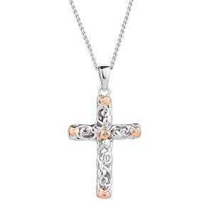Clogau Sterling Silver & Gold Tree of Life Cross Pendant - Product number 4510763