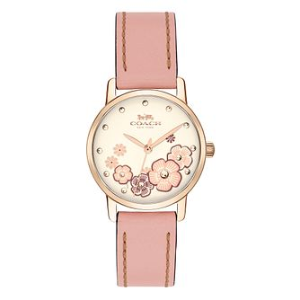 Coach Grand Ladies' Flower Strap Watch - Product number 4512618