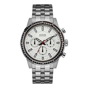 Guess Men's Round White Dial Stainless Steel Bracelet Watch - Product number 4515293