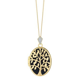 9ct Yellow Gold and Diamond Tree of Love Oval Locket - Product number 4516079