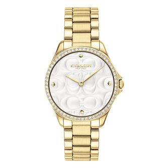 Coach Mod Sport Ladies' Yellow Gold Tone Stone Set Watch - Product number 4517083