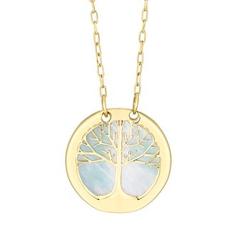 9ct Yellow Gold Tree of Life Designs Mother of Pearl Pendant - Product number 4517814