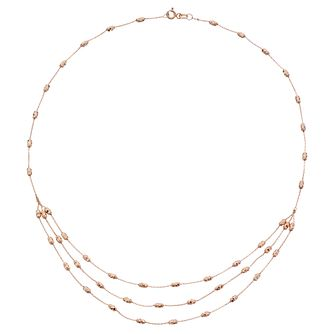 9ct Rose Gold Triple Layer Necklet - Product number 4517989