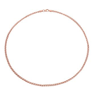 9ct Rose Gold Link Chain Necklet - Product number 4518098