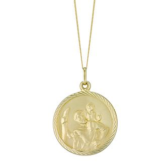 9 Carat Yellow Gold Satin Finish St Christopher Pendant - Product number 4518381