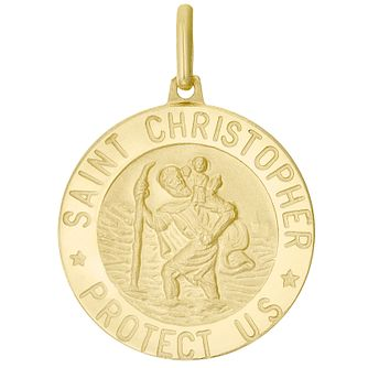 9ct Gold Large St Christopher Pendant (No Chain) - Product number 4518543